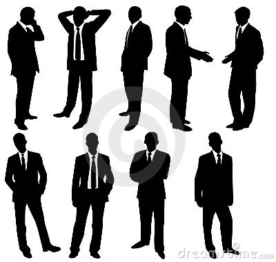 Collection of businessmen