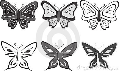 Collection of butterflies. Vector illustration