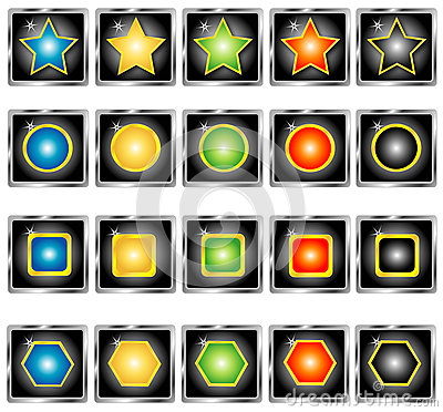Collection of buttons, Vector