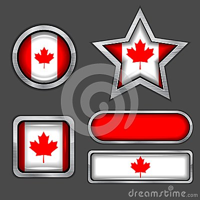 Collection of canadian flag icons