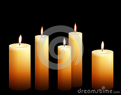 Collection of candle illustrations