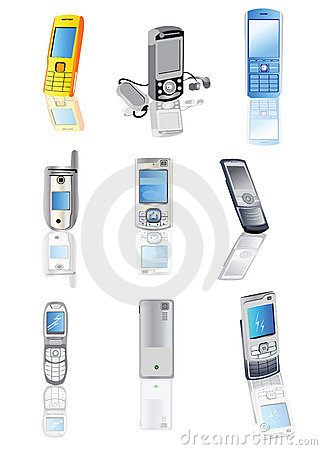 Collection of cellphones