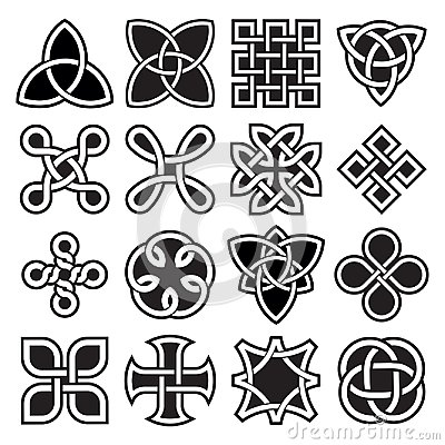 Collection of Celtic Knot Designs in Vector Format Vector Illustration