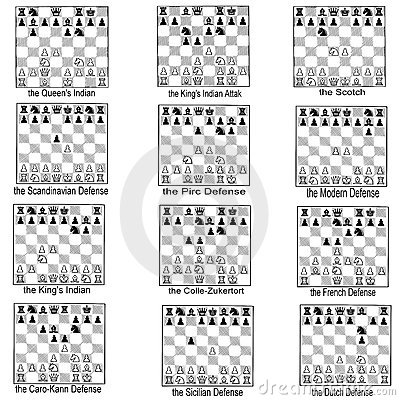 Collection Of Chess Openings Stock Photography Image
