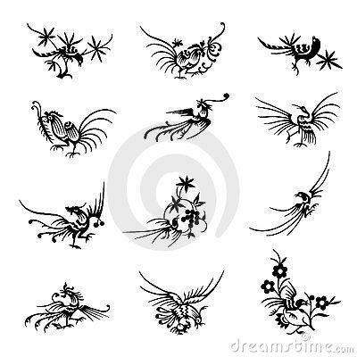 Collection of Chinese bird symbols