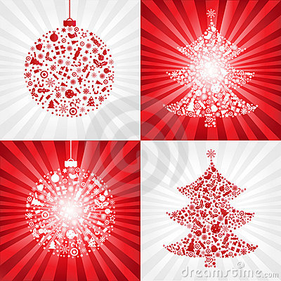 Collection Christmas Backgrounds. Vector