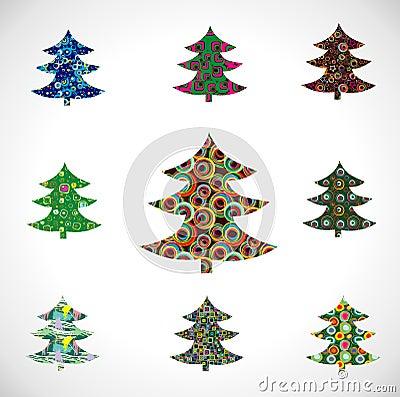 Collection Christmas Fur-tree.