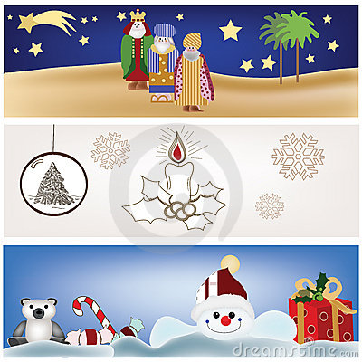 Collection of christmas scenery