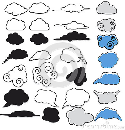 Collection of Cloud Symbols
