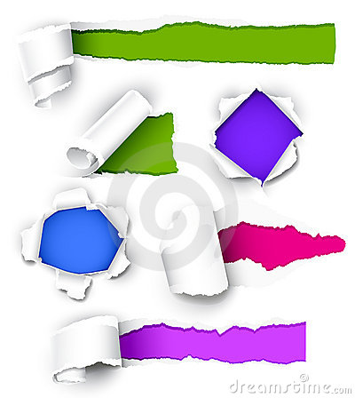 Collection of colored paper.