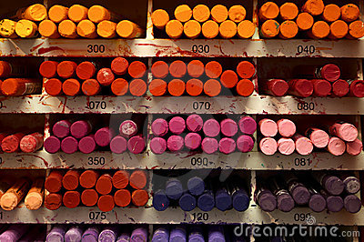 Collection of colorful crayons
