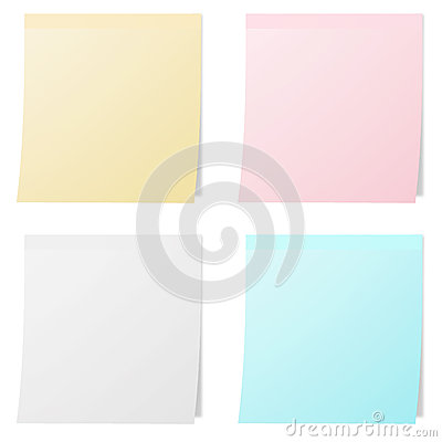 Collection of colorful note papers