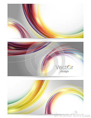 Collection of colorful vector backgrounds