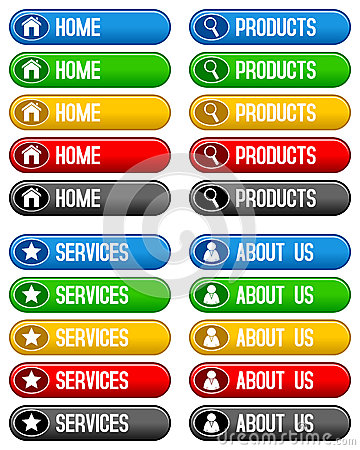 Home Products Services Buttons