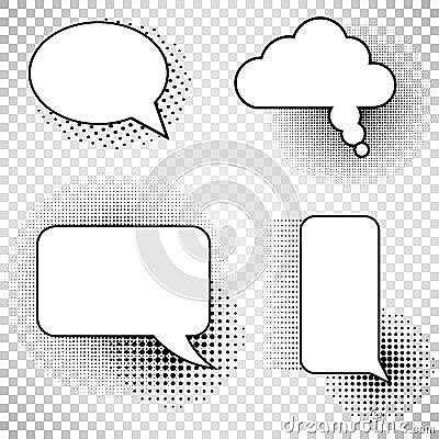 Collection comics speech balloons icons Vector Illustration