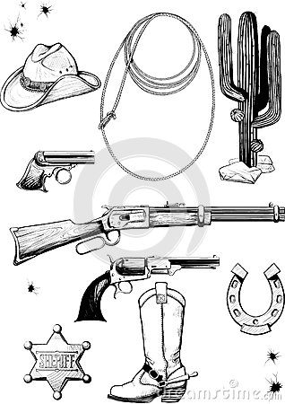 Collection of cowboy accessories