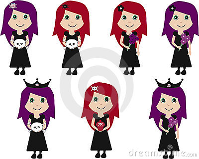Collection Of Cute Goth Girls