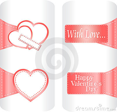 Collection of cute heart stickers wedding