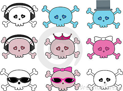 Collection Of Cute Skulls