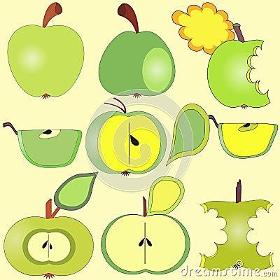 Collection de pommes