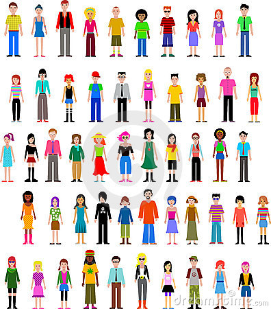 Collection of different  people
