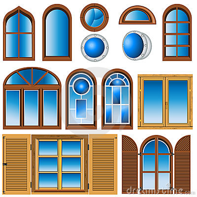 Collection of different windows