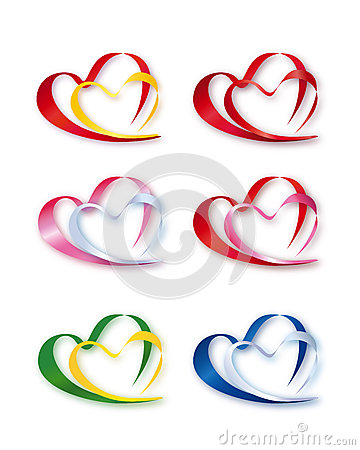 Collection of Double Hearts