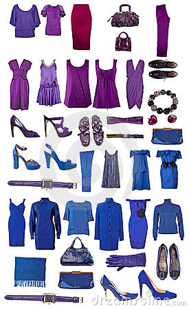 Collection of dress and shoes