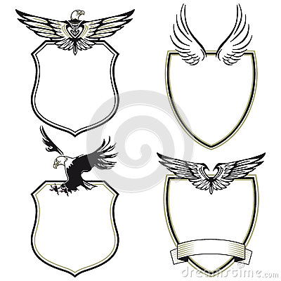 Collection of eagle crests