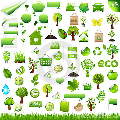 Free Collection Eco Design Elements. Vector Royalty Free Stock Photography - 17896747