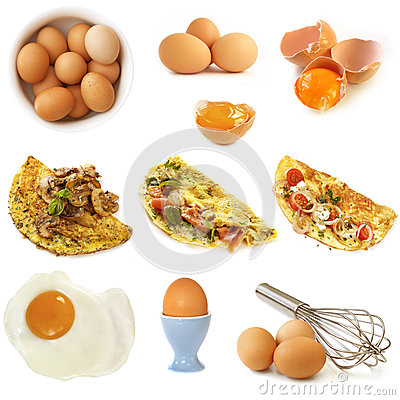 Eggs Collection Isolated
