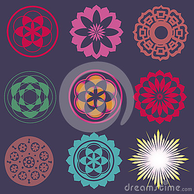 Collection of esoteric flower elements