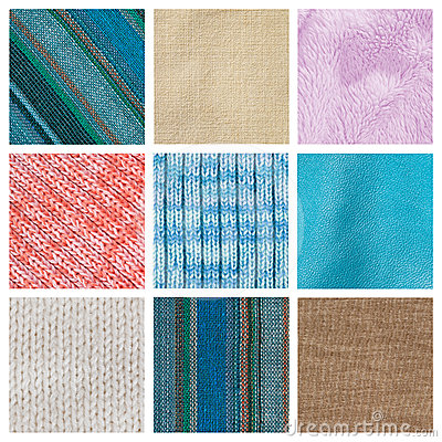 Collection fabric textured background