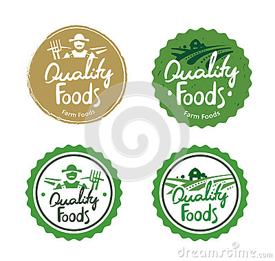 Free Collection Farm Food Logos Royalty Free Stock Photo - 58655095