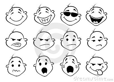 Collection of  fatial expressions