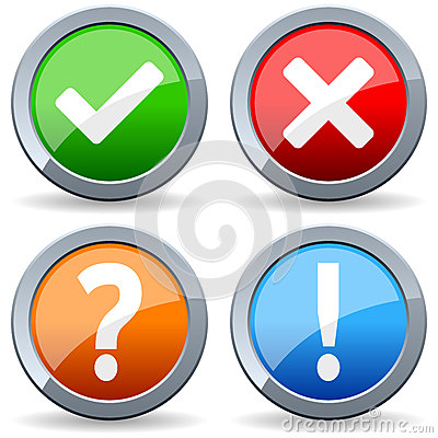 Yes No Question Answer Buttons