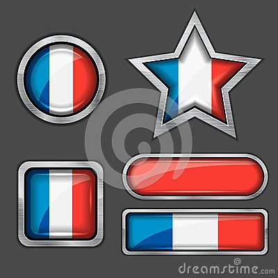 Collection of france flag icons