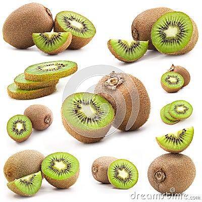 Collection of fresh kiwi