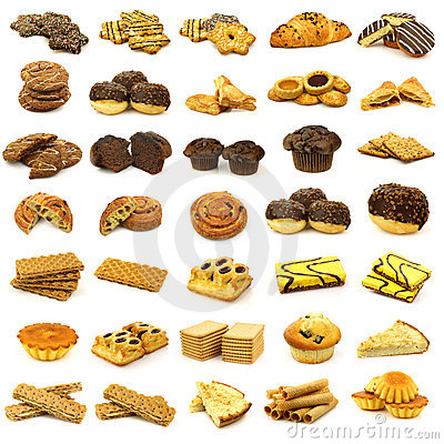 Collection of freshly baked pastry