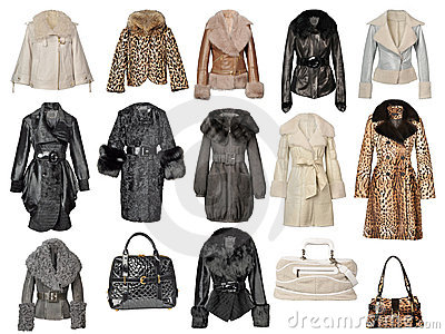 Collection of fur coats