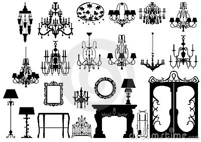 Collection of   furniture silhouettes