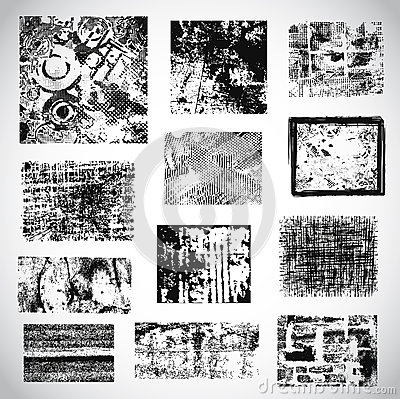 Collection of grunge textures vector