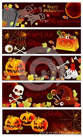 Collection of Halloween banners