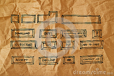 Collection of hand drawn computer keys