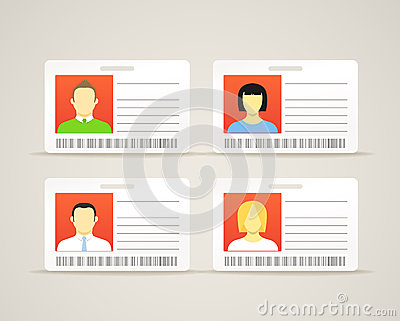 Collection of id cards