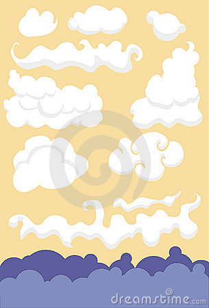 Collection of Illustrated Clouds
