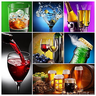 Collection of images of alcohol.