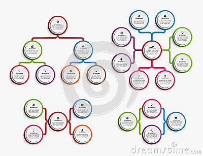 Infographic Design Organization Chart Template. Stock Vector ...