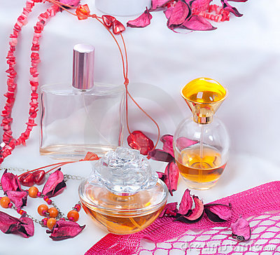 Collection of ladies perfumes