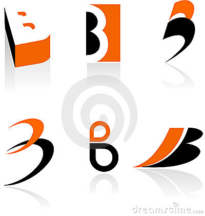 Collection of letter B icons